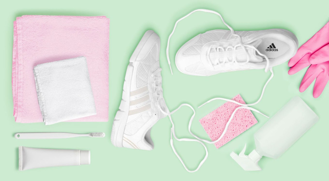 adidas cheer shoes with cleaning products