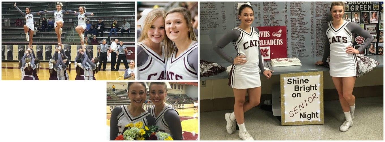 Mt Vernon HS cheerleaders in their new uniforms