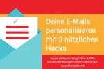 personalisierte e mail mit 3 hacks im online buchungssystem supersaas