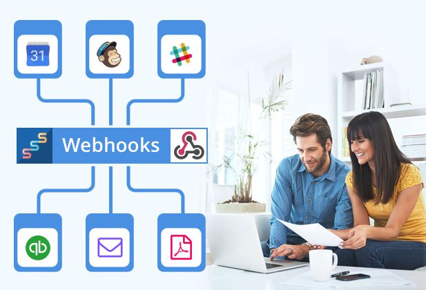 Webhooks können bei jeder Terminbuchung bestimmte Aktionen Aktionen auslösen und so automatisch Aufgaben erledigen
