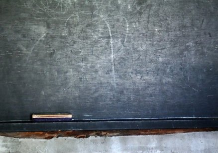 A very old school house chalk board