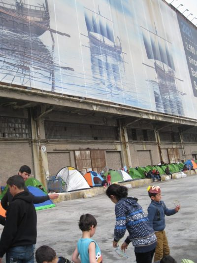 Refugees in tents
