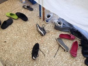 Children's shoes lying on the floor