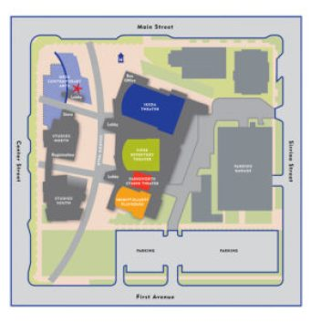 Mesa Arts Center Map