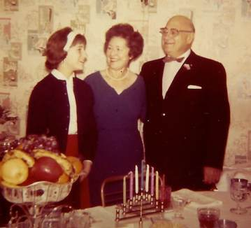 Photo of author with family.