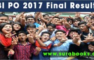 SBI PO 2017 Final Results released