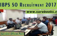 IBPS SO Recruitment 2017 1315 Specialist Officers Posts