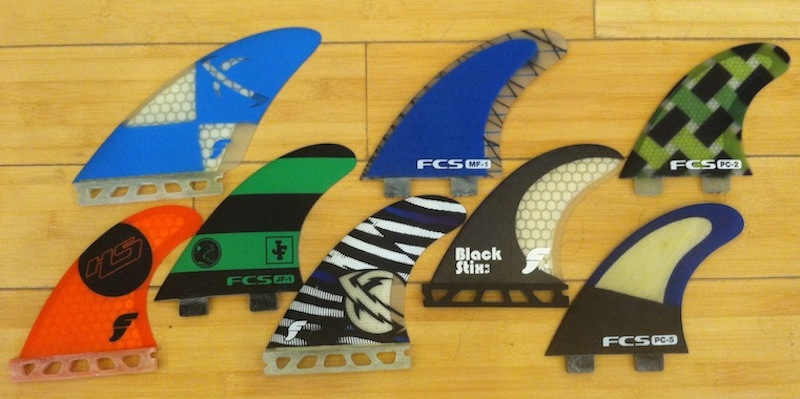 Made for Good Waves Futures Fins Large Surf Squared Large Future Fins Fast Flat Foil Smooth Glass Flex Surfers 150 to 200 lbs Thruster Surfboard Fins