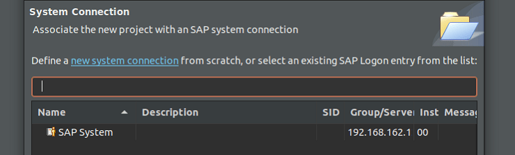 Eclipse: Add ABAP project