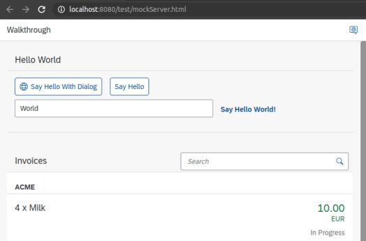 SAPUI5 App: Running mockServer.html