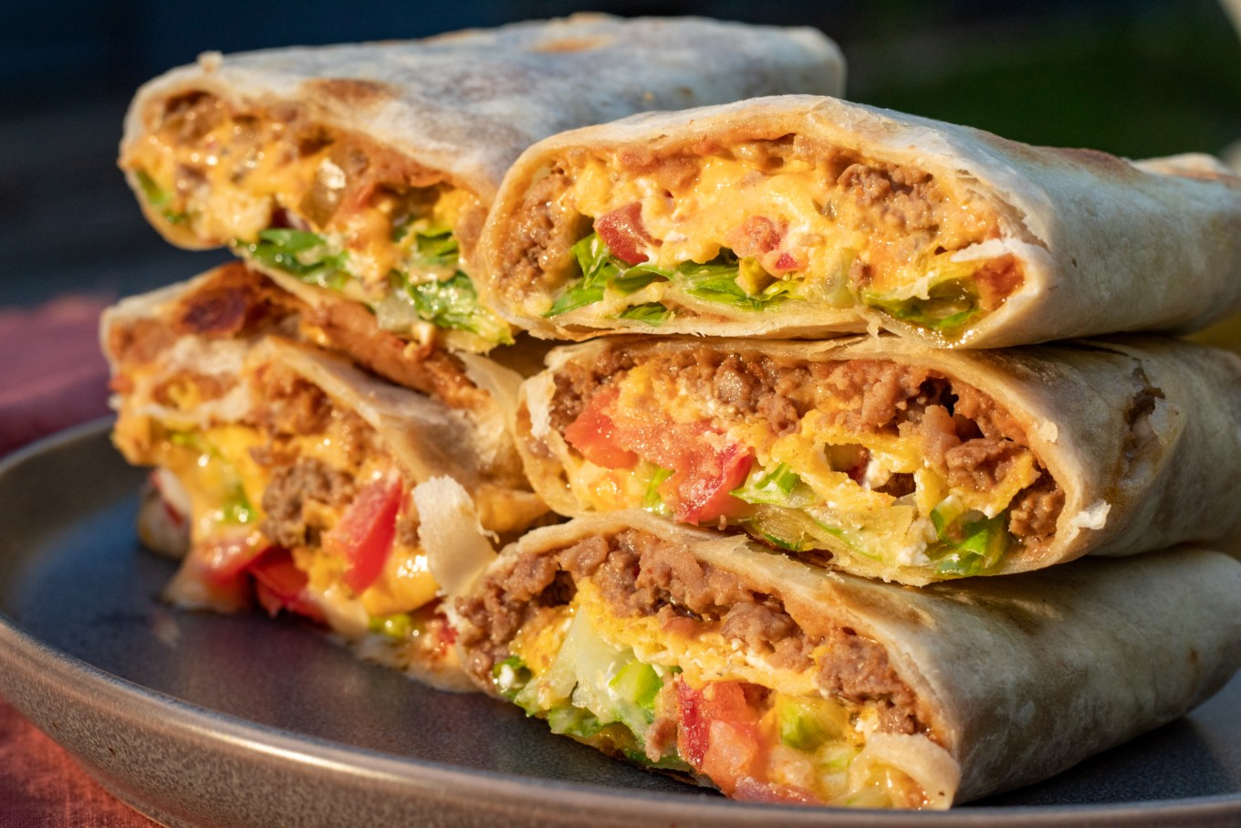 Beef And Bean Burrito Recette Magazine