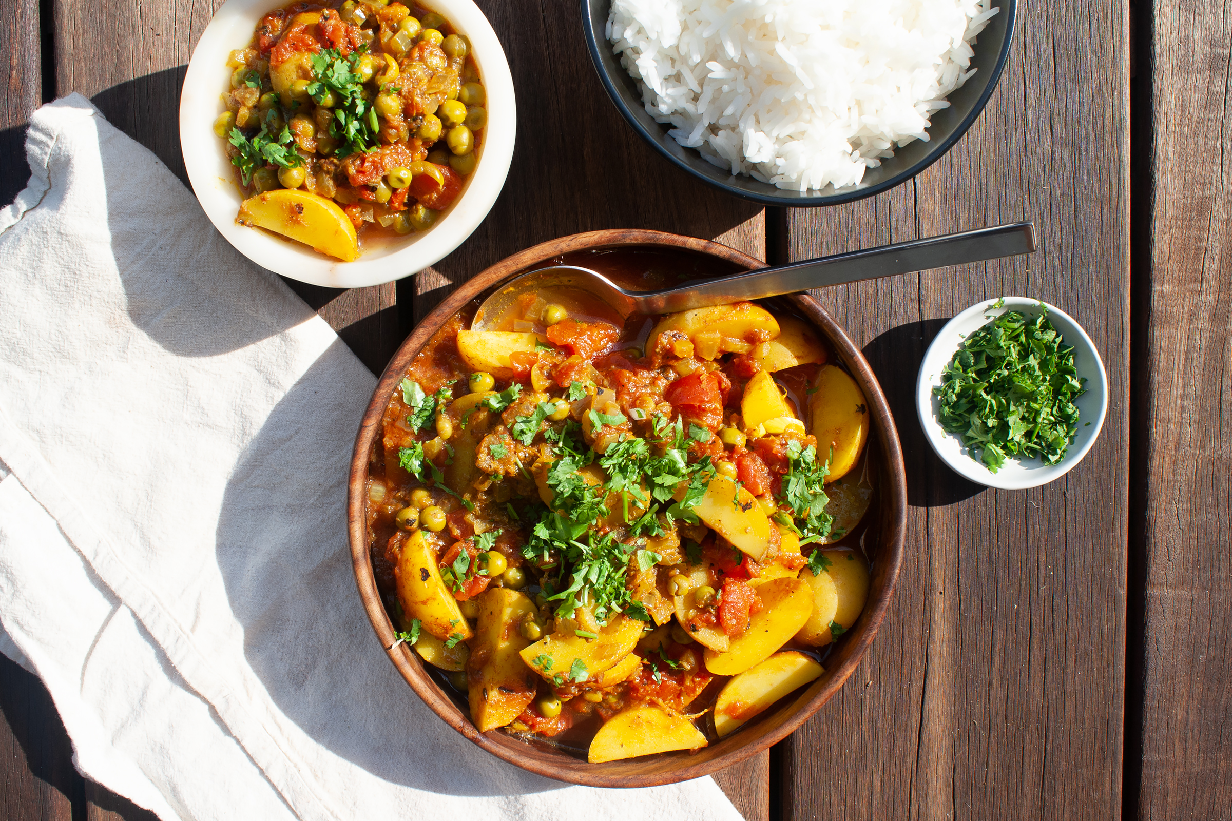 Aloo Matar With Basmati Rice Recette Magazine