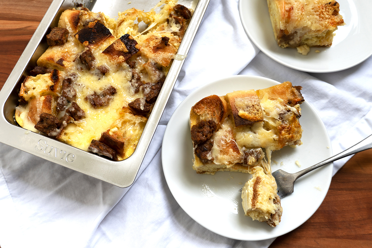 Sourdough Baguette Breakfast Strata