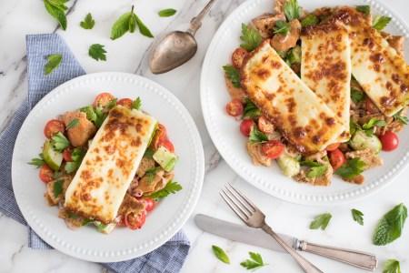 Halloumi and Fattoush Salad