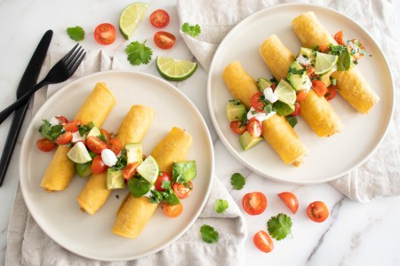 Crispy Chicken and Cheese Taquitos