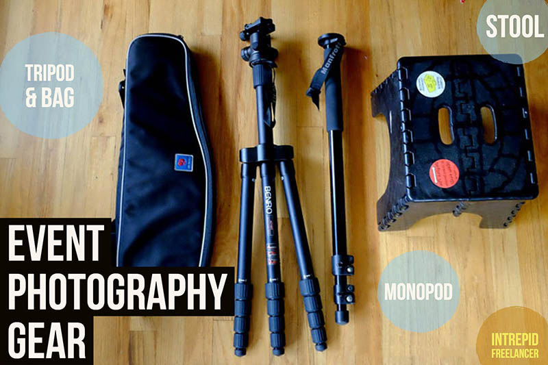 Event photography gear