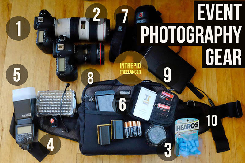 Event photography gear equipment
