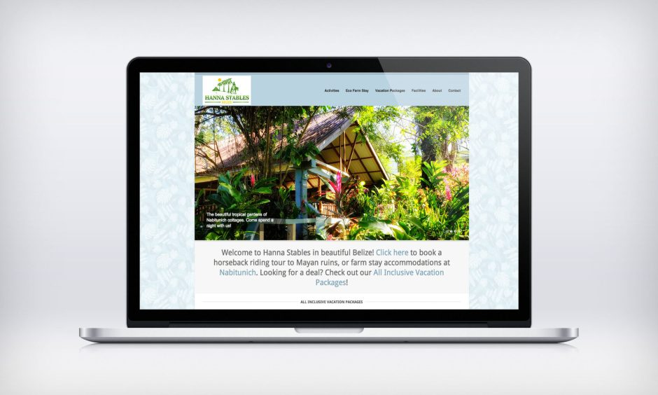 Hanna Stables website redesign