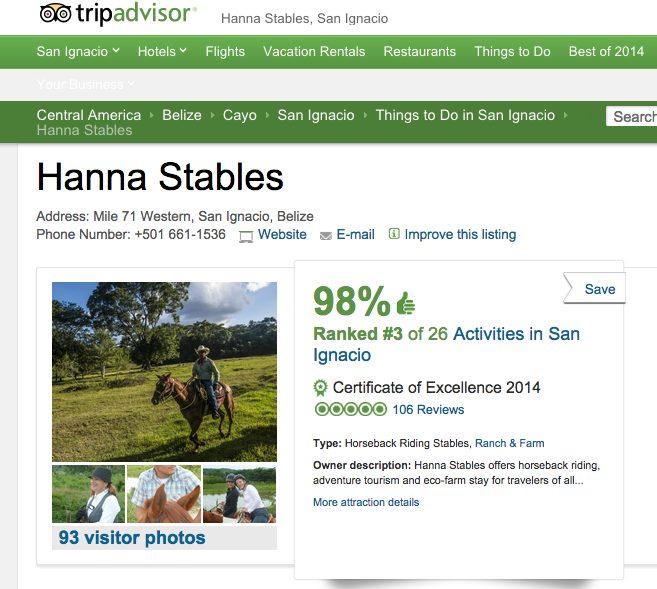 Hanna Stables user testimonials