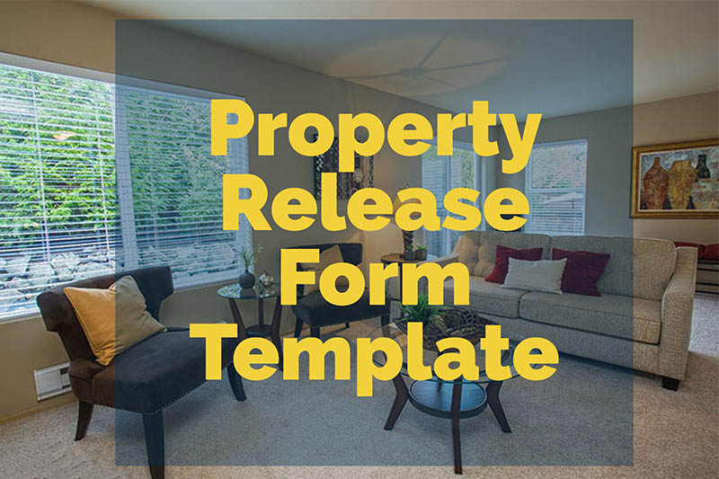 Property Release Form Template  Intrepid Freelancer
