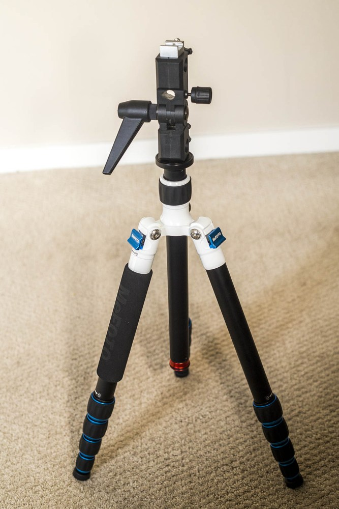 Turn any tripod into a makeshift light stand with just two simple tools: an umbrella adapter and threaded adapter.