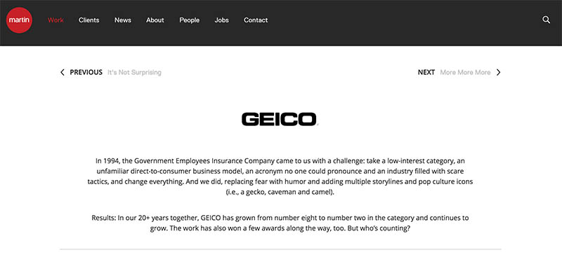 Geico insurance ad agency