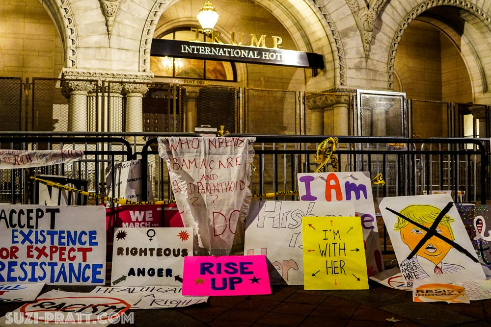 Donald Trump hotel protests