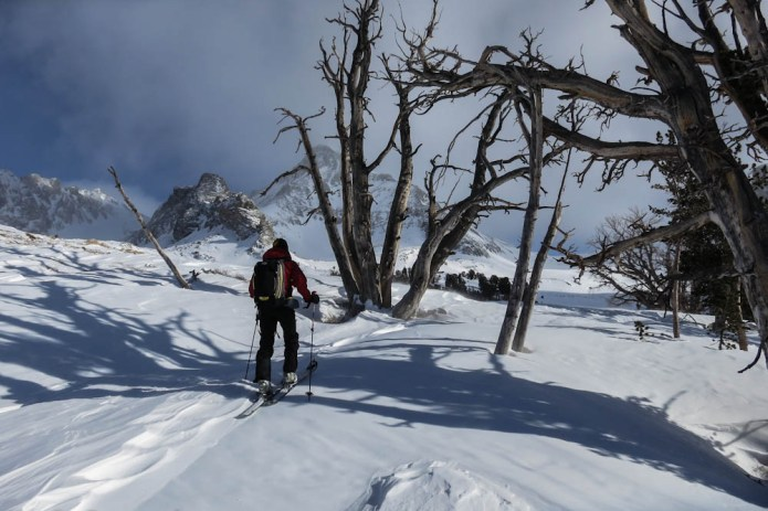 Backcountry skiing in the Pioneer Mountains with Sun Valley Trekking