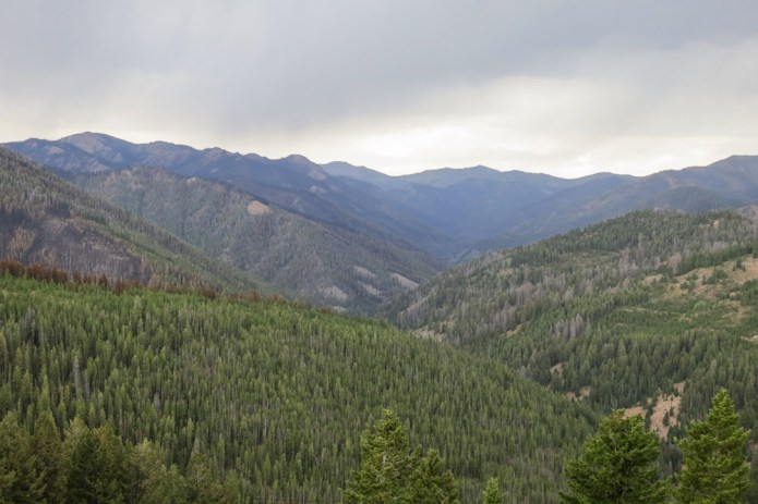 looking up to the headwaters of Baker Creek