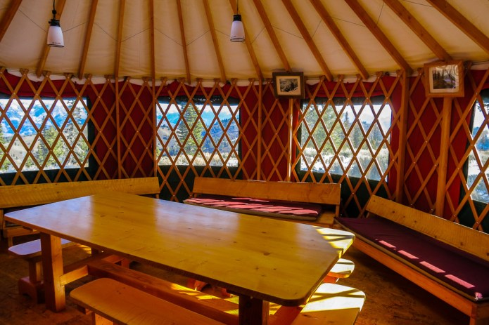 The kitchen yurt is a spectacular place to be, the window views are awesome!