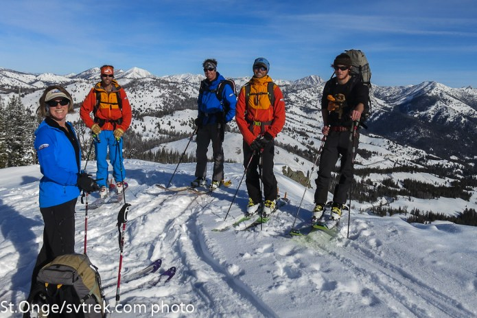 Francie, Chris, Marc, Pato and JP: an awesome collection of ski guides!