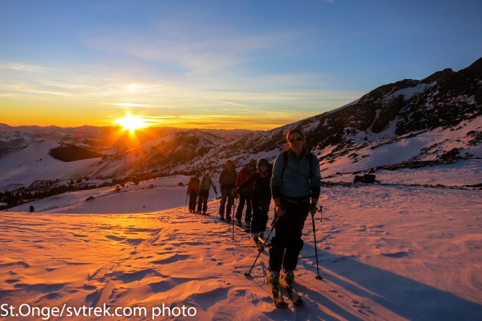 squeezing the last light out of each day with a ski