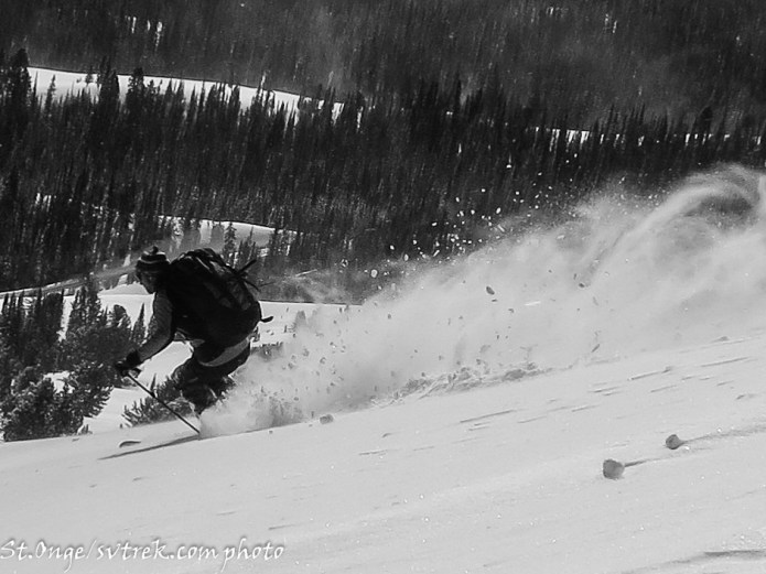 Powder Flight on the pass