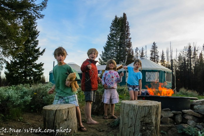 Kids LOVE the yurt experience!