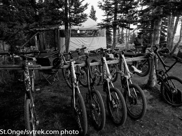 Backcountry bike rack at the old Coyote Yurts