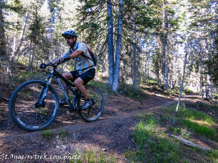 """starting the 2000' downhill on """"Edge of the World"""""""