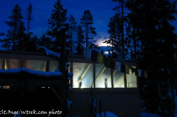 Full moon rising above the Bench Hut