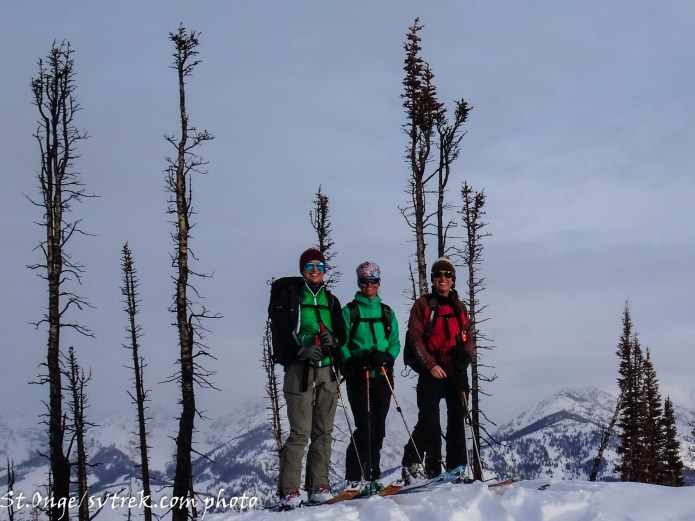 the girls on the Mighty Tornak Peak