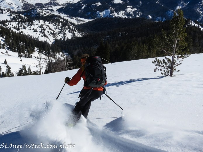 SVT guide, Chris Marshall, leading the way into the next powder stash