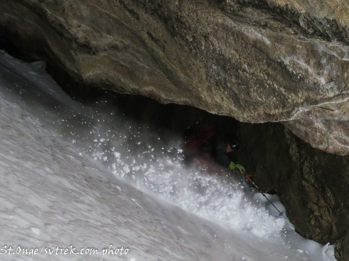 Toby, ripping through the cave