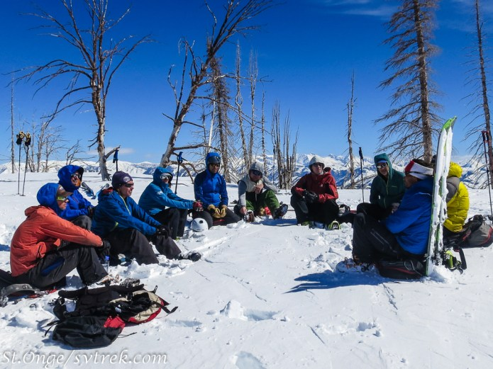 Course debrief on a summit
