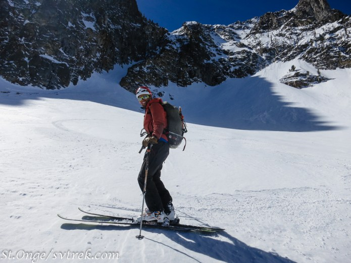 stoked after a stellar couloir