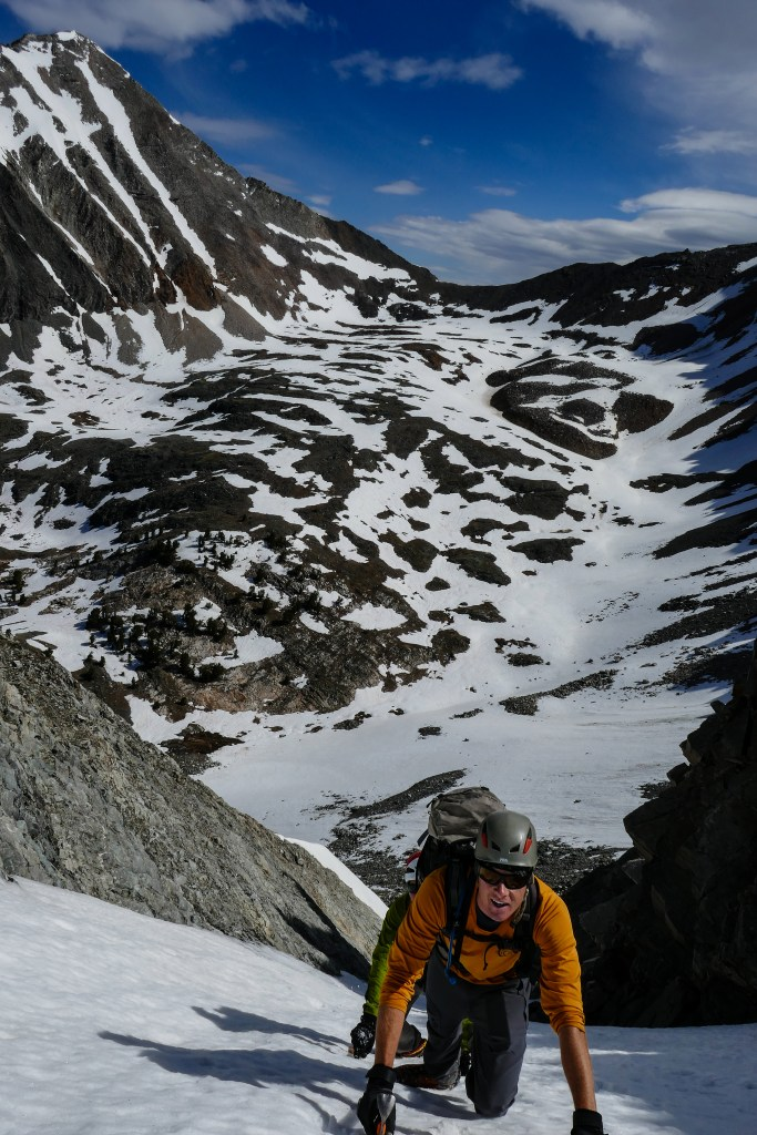 JP, high in the North couloir