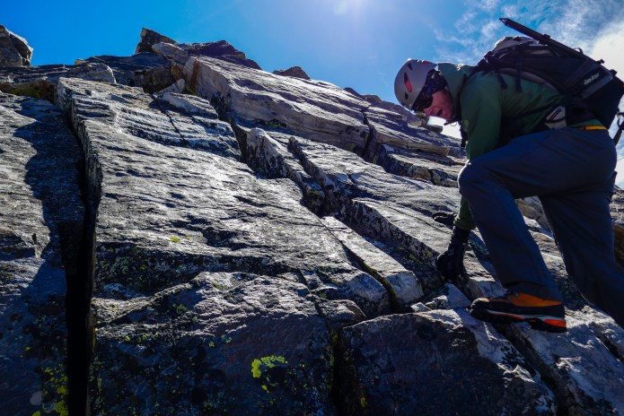The summit of Cobb Peak offers beautiful quartzite for over a 1000'