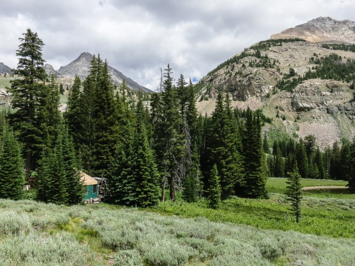 The Pioneer Yurt makes a perfect base-camp for climbing on the peaks above
