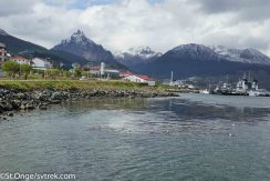 Ushuaia, Argentina is the southernmost port and the launching point for Antarctica.