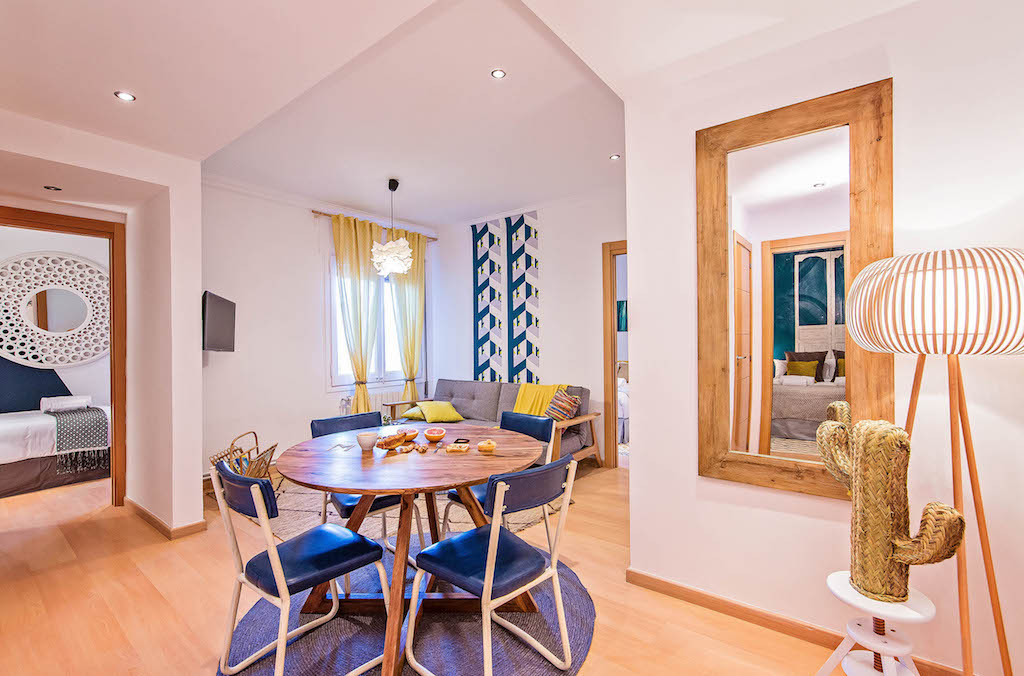 ethnic inspiration in the Vicky Christina quiet family apartment in the center of Barcelona by sweet inn