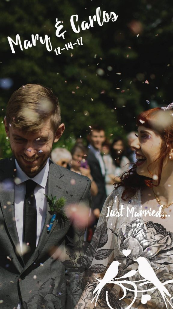 Snapchat geofilters for your wedding