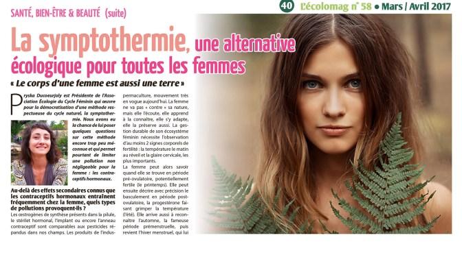 Symptothermie : la permaculture du cycle féminin