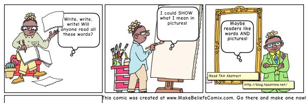 Comic strip visual example